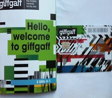 GiffGaff £5 free credit SIM/3 in 1 Micro/Nano/Standard/ACTIVATE & TOPUP REQUIRE