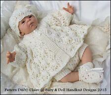"BABYDOLL HANDKNIT DESIGNS KNITTING PATTERN DOTS & DAISIES 13-18"" DOLL PREM BABY"