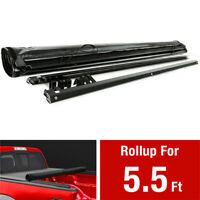 5.5 Feet 66 Inches For 2007-18 Toyota Tundra Crew Cab Soft Roll Up Tonneau Cover