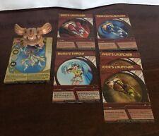 Bakugan 7pc Lot Tan Sub Monarus, 1 Ethereas Launch Card, 5 Deck Cards Pics