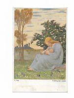 """Künstlerkarte von O. Popp, """"Frühling des Lebens"""", Verl. Wiechmann, München"""