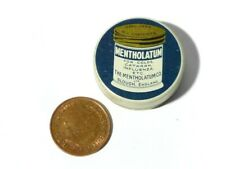 Antique Empty Mentholatum Ointment Chemists Tin SAMPLE 3cm dia