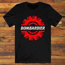 Bombardier Ski-Doo Logo Snowmobiles Snow Vehicle Men's Black T-Shirt S-3Xl