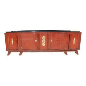 Impressive French Art Deco Rosewood Sideboard by Jules Leleu, circa 1935s