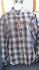 NWT Merona Men Long Sleeve Grey Patina Stripe Shirt  Size Medium