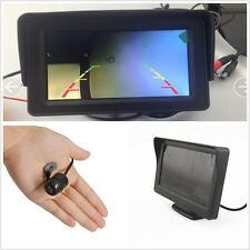 "170° Mini CCD Car Reversing Parking Camera Kit & 4.3"" LCD Display Colour Screen"