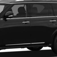 Fits Nissan Armada 2017-2018 Dawn ABS Chrome Lower Door Body Side Molding Trim