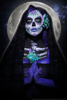 Luna Muerte by Daveed Benito Poster 12x18 inch