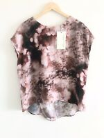 Hammock & Vine Size 18 Print Tunic Top Abstract Pink Black Floral Print RRP $149