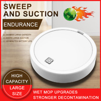 Self Navigated Smart Robot Vacuum Cleaner Rechargeable Auto Sweeper Edge Clean W