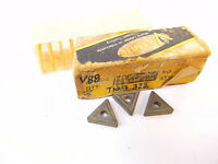 NEW SURPLUS 3PCS. VALENITE  TNMG 322  GRADE: V88  CARBIDE INSERTS