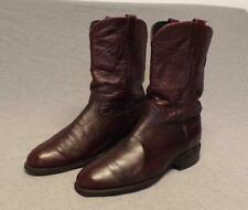 Vintage Dan Post Western Burgundy Cordovan Leather Riding boots 6586 mens 9D Usa