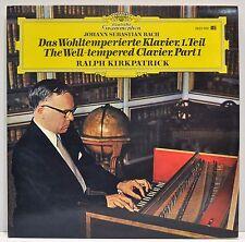 "RALPH KIRKPATRICK ""Bach, The Well Tempered Clavier"" 2-LP Vinyl DGG 2832 005 - NM"