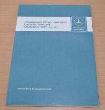 Mercedes 420SL 300TD 190E 2,3 2,6 Neuerungen 1986 und 1987 Werkstatthandbuch PKW