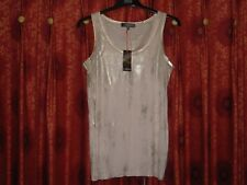 MARKS AND SPENCER LIMITED COLLECTION GOLD 2-TONE VEST TOP SIZE 14 BNWT