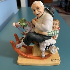 """Norman Rockwell """"Gramps at the Reins� Porcelain Figurine By The Danbury Mint"""