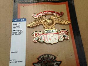 Harley OEM Vintage backrest Sissy Bar Emblem medallion Badge Eagle MADE IN USA