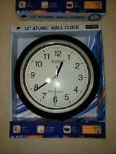 "Wt-3129B La Crosse Technology 12"" Atomic Analog Wall Clock - Black Nib"