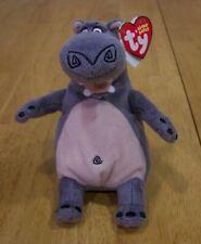 "Ty Madagascar Gloria Hippo 7"" Plush Stuffed Animal Toy New w/ Tag"