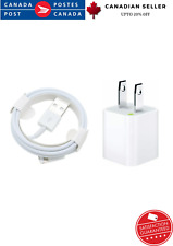 Genuine 5W Wall Charger Cube 1m Lightning USB Cable Set Apple iPhone X 8 7 6  5