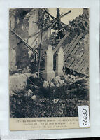 C8293cgt Military WWI France Carency Ruins of Church vintage postcard
