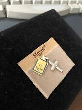 Monet Gold Tone CHARM  Cross