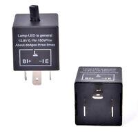 Relais réglable de clignotant de voiture de 12V 3-LED LED pour le clignotant.FR