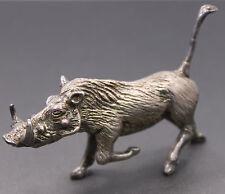 English Silver Boar / Warthog Solid .958 Britania Silver 91.5g