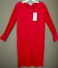 Lacoste Long Sleeve Hot Pink T-Shirt Dress, Size FR42/US10. NWT. Made in France.