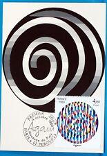 OEUVRE D AGAM  FRANCE  CPA Carte Postale Maximum  Yt 2113 C