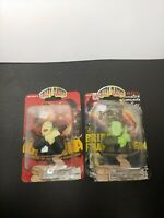 2006 Greenbrier Creepy Classics Dracula And Frankenstein Finger Puppets