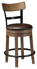 Swivel Bar Stool Wooden Frame Counter Height Modern Barstool Bistro Pub Chair