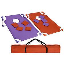 Portable Pvc Beanbag Toss Cornhole Game Set Tear-Resistant Fabric W/ Carry Case