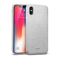 Handyhülle für iPhone XS Max Schutz Hülle Silikon Cover Glitzer Case Slim Tasche