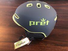 New Pret Cynic Ski Snowboard Helmet Mens Small 51-55 Cm Gray Green