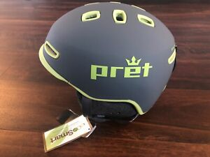 New Pret Cynic Ski Snowboard Helmet Mens Small 51-55 Cm Gray Green