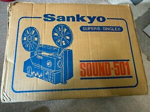 Sankyo 501 Super 8 Sound Projector in Original Box 8mm Super8