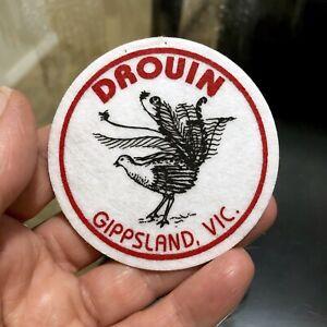 Vintage 'DROUIN Gippsland VIC' Felt TOURIST Sew ON Cloth PATCH Souvenir BADGE