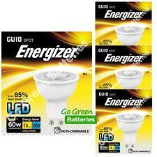 4x Energizer GU10 5.8 W = 60W LED Bulb Spotlight 500 Lumens Cool White