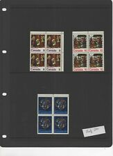 Canada - 1976 Christmas set MNH blocks of 4 ref 24