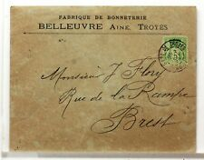 SA195  TYPE SAGE SUR LETTRE ANCIENNE OBLITERATION GARE  GARE  19°SIECLE