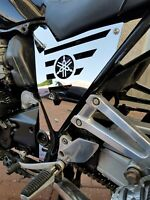 YAMAHA XJR 1300 2004 POLISHED STAINLESS LOGO SIDE PANELS NOT OVER RACING