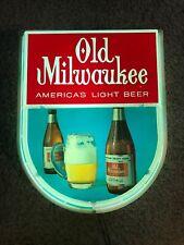 1966 Rare Vintage Old Milwaukee Beer Light Wall Bar Bottle Menu Board Sign WORKS