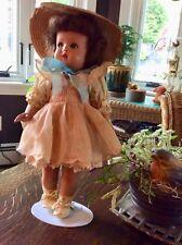 """Vintage 1940's Composition Google Side Glance Eyes 13"""" Doll"""