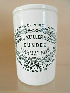 Antique / Vintage JAMES KEILLER DUNDEE MARMALADE POT (1lb size)