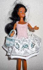 Vêtements pour Barbie Robe sac dentelle Lavable Résistant artisanal