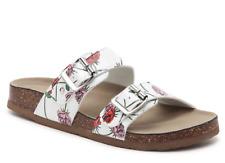 NEW MADDEN GIRL BRANDO FOOTBED SLIDE SANDALS WOMENS 8.5 FLORAL PRINT FREE SHIP