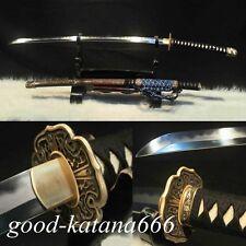 CLAY TEMPERED JAPANESE SAMURAI SWORD PATTER STEEL KATANA VERY SHARP BLADE-0332