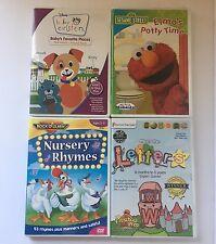 Preschool Infant Learning DVDs lot of 4 Elmo Baby Einstein Nursery Letters