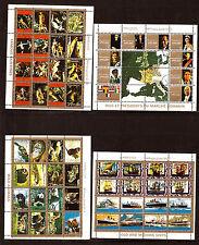 AJMAN 4 BLOCS: tableaux ,roi et présidents,animaux,bateaux anciens/modernes H155